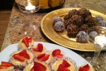 Mini Cheesecakes, Chocolate Truffles, and Sweet Potato Pie.. all Raw and Vegan!!